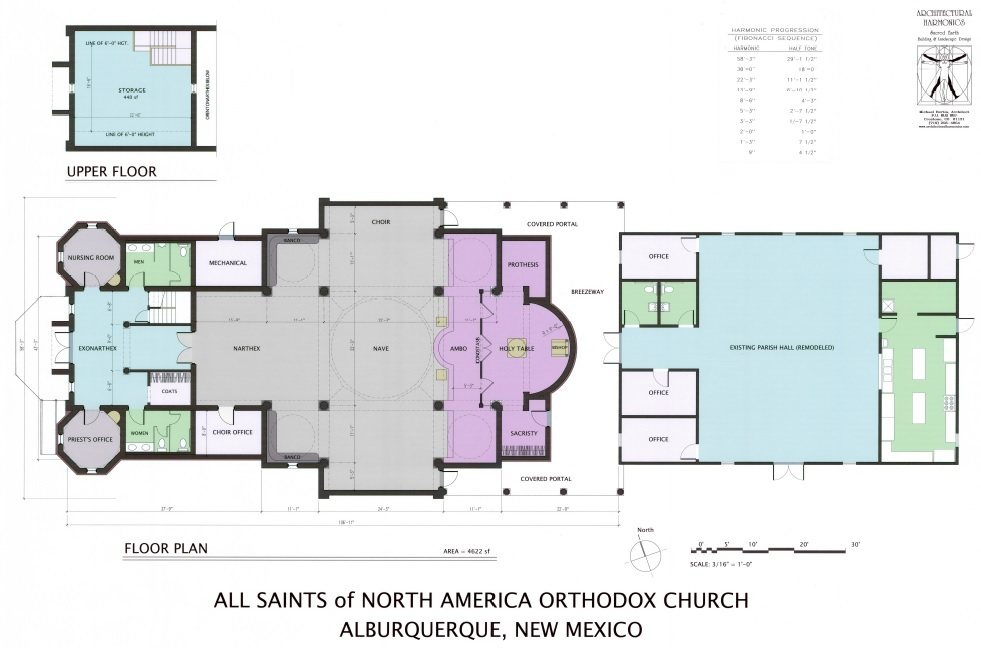 All saints of north america building project for Church floor plan designs